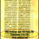 MS Vatican Syriac 22 & MS Vatican Syriac 17: Syriac Manuscripts copied in South India